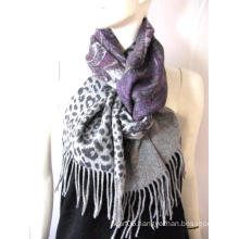 100%Wool Double Faced Printed Scarf