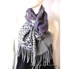 100% Шерстяной двусторонний печатный шарф