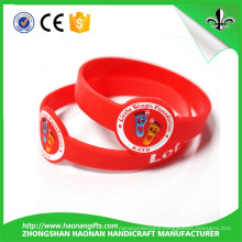 Colorful Silicone Wristband with Logo Embossed or Color Filled