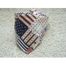 Personalizado bandeira impresso moda bebê triângulo bandana triângulo cachecol (BO835)