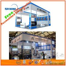 Sistema de exposición de aluminio 20'x20 'para exhibición de cabina con panel de sistema de cabina de exposición