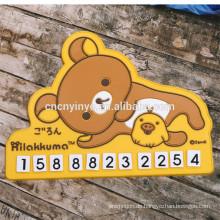 Pkw-Besitzer bewegliche Platte Karten, Weichgummi PVC-Handy-Kfz-Kennzeichen