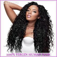 2015 Nouvelle Arrivée Pas Cher Perruques de Base de Soie Indienne Pleine Perruque De Base De Soie Bouclée Pour Les Femmes Noires