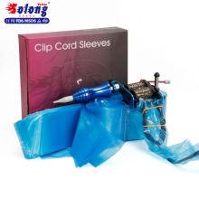 Solong Tattoo Versorgung 125pcs Einweghülse Einweg Tattoo Clip Cord Tasche