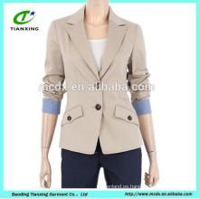 chaqueta delgada de la chaqueta de las señoras de la alta calidad