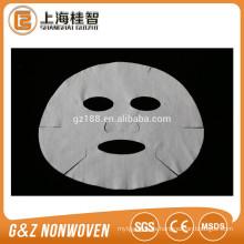 hojas de máscara facial de microfibra no tejida hoja de máscara blanca
