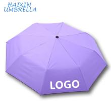Lady Sun Goood Qualidade Promoção de Vendas Presente Design Personalizado Empresa de Impressão Logotipo Pequeno Tamanho Padrão Verão Umbrella À Prova de Vento