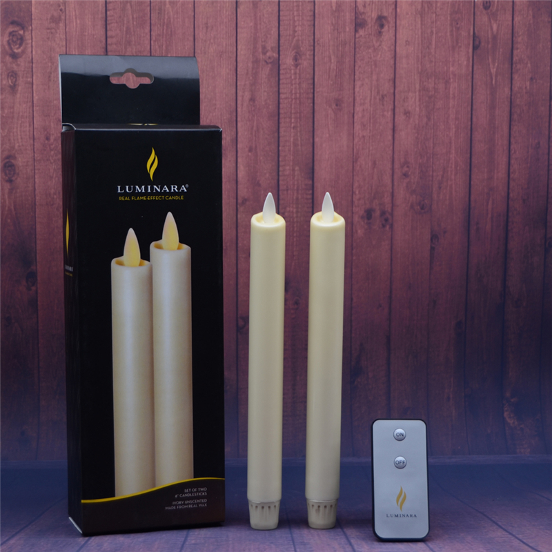 moving flame dacing wick led luminara taper candles0