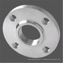 Bride filetée en acier au carbone avec certificat ISO