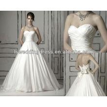 WD1078 klassisches Schatzausschnitt-Mieder gesammelt am drapierten Taillenkugelkleid-Hochzeitskleid 2014