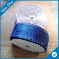 Vente en gros en gros de transfert de chaleur Grosgrain Ribbon Blue
