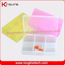 Latest Design Plastic 6-Cases Pill Box (KL-9101)