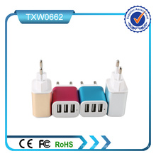 3 Ports USB Wall Charger Portable USB Wall Charger Multiple USB Wall Charger