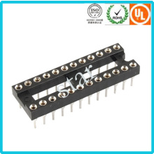 Fabrik benutzerdefinierte 2,54 mm 24 Pin Double Row Pin Header IC-Sockel