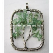 Grüne Aventurine Chip Stein Perlen Lucky Baum Anhänger
