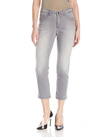 532women S Cotton Spandex Capris Jeans Grey