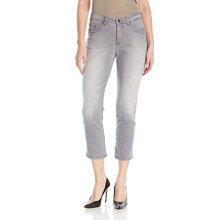 Women's Cotton Spandex Capris Jeans Grey