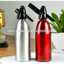Diseño de moda Sifón de soda de aluminio cepillado, 1 litro