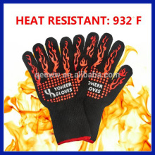 Good for BBQ 100% Cotton Lining glove 932F Oven Mitts Cut & Heat Resistant Gloves Chef Baking Supplies Grill Accessories