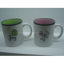 Keramische Tasse mit Glasuren