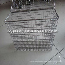 Crimped Stainless Steel Wire Mesh Basket With A Lid
