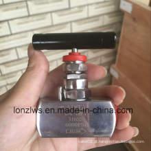Válvula de agulha Ss316 de aço inoxidável