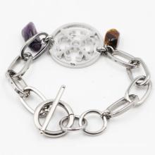 Jóia de aço inoxidável imitação pulseira de moda para o presente