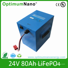 Rechargeable 24V 80ah LiFePO4 Battery Packs