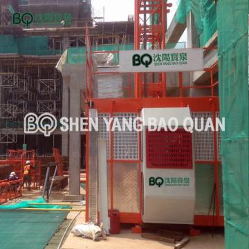 Elevador y elevador de material de elevación de pasajeros de construcción