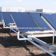 Pressurized/non-pressure flat panel solar collector, TP2 copper & AL absorber
