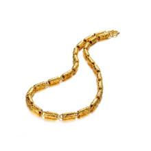 Collar fornido de oro, collar indio 18k joyas de oro