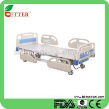 3-service manuel Lit d'hôpital avec rails latéraux PP lit d'hôpital infantile