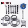 LUGB manufacturer 4-20mA intelligent oil liquid gas steam vortex flowmeter with temperature and pressure compensation