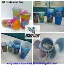 3D Effect Lenticular Printing Plastic PP Cup