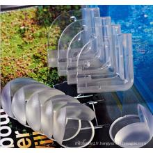 Protecteur de coin de table transparent