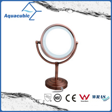 Chromed Make up Mirror in Gold Rose (AA6522)