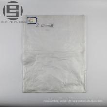Sacs transparents de paquet plat de PE pour des supermarchés