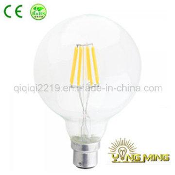 G125 Limpar 5W B22 dim bulbo de filamento de LED