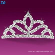 Peaux en cristal élégantes en cristal, peignes de mariage en cristal, peigne à cheveux bon marché