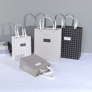 Bolsas de regalo de papel de totalizador de embalaje de compras de lujo