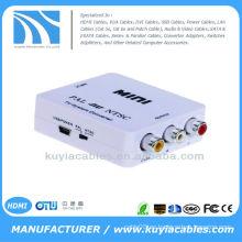 PAL / NTSC / SECAM a PAL / NTSC Mini Adaptador de sistema bidireccional de formato de TV