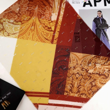 Fancy design high quality woven 100% polyester crepe chiffon foil printed fabric for scarf