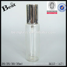 20/25/30 / 35ml bouteille de flacon de pulvérisation de brume vide, bouteille de parfum vide noir, flacon de parfum vide avec bouchon