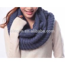 Nova moda acrílico cachecol tricotado snood