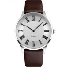 Assista Fabricação Quartz Leather Strap Couple Watch