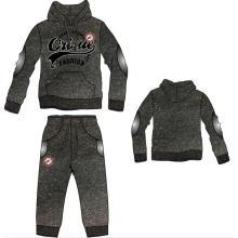 Moda de ocio de algodón jersey de deporte hombres con capucha con pantalones en ropa de hombre desgaste deportivo (sqm-114)