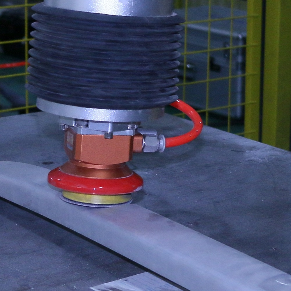 Constant force actuator for metal sanding