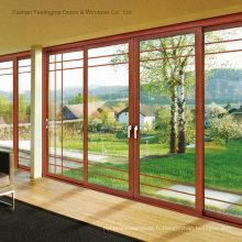 Portes modernes à double vitrage en aluminium (FT-D80)