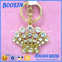 Porte-clés porte-monnaie pendentif couronne en cristal de mode