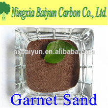 Natural red garnet sand blasting 30/60 mesh
